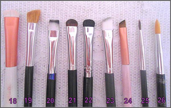 pinceis funcoes variadas Funções dos pincéis de maquiagem para os olhos