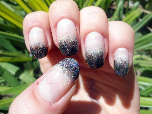 ombre nail glitter Unha da esmana: Ombré nail com glitter HD