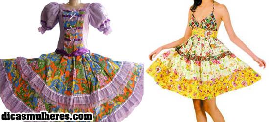 vestidos para festa junina Vestido para usar na Festa Junina 2012